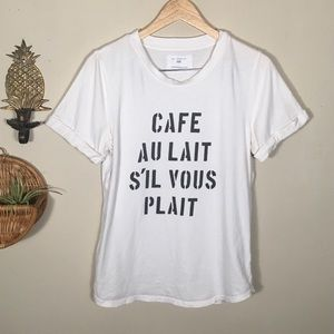 Anthropologie Sol Angeles Graphic French Tee